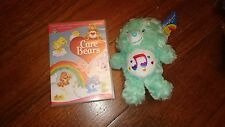 CAREBEARS Soft Plush Teddy Toy RETRO TV green HEART SONG BEAR