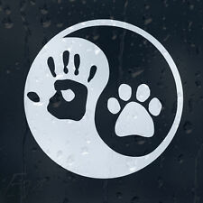Dog Paw Ying Yang Hand Print Sign Car Or Laptop Decal Vinyl Sticker