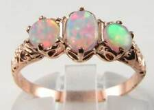 ENGLISH 9k 9 carati oro rosa victorian INS trilogia anello libero ridimensionamento