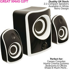 QUALITY Compact 2.1 Surround Sound Gaming Speaker System -Mini PC/Laptop Sub Kit