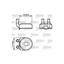 VALEO Oil Cooler, engine oil 817705