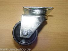 Apparate Doppelrolle 50 mm TK 80 kg Lenkrolle Platte Kunststoffrad
