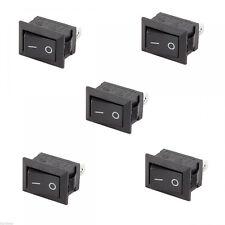 10 PCS Rocker Switch Wippschalter Schalter KCD11 Rastend Schwarz Verkauf  Neu