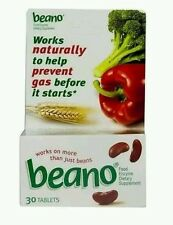 3x BEANO to Help Prevent Gas and Bloating  30 tablets (No box) 90 total