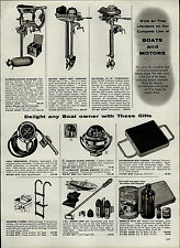 1959 PAPER AD Commando Air Cooled Outboard Motor 2.5 HP Neptune Mighty Mite