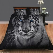White Tiger - Double Bed Quilt Cover Set - Great Gift idea for a Big Cat lover