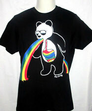 MENS RIOT SOCIETY PANDA BEAR BLACK T-SHIRT SIZE S