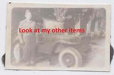 ww2 photo battle of bulge unit named B 526th Armored Infantry Battalion Jeep
