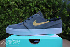 NIKE ZOOM STEFAN JANOSKI SZ 9.5 ANTHRACITE METALLIC GOLD BLACK SB 333824 076