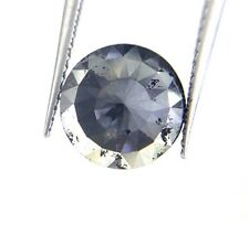 2.50TCW 9.7 mm Round rose cut Jet Black Color Loose Natural Diamond for earring