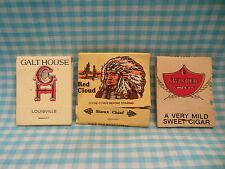 VTG Matchbook Lot Red Cloud Swisher Sweets Galt House Louisville OH Gift