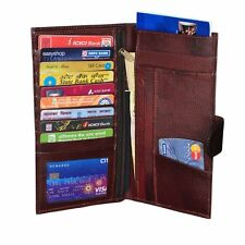 Modish Designs  Genuine Leather Travel Passport Case/ Document holder - Brown