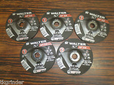 "Walter 08-K 600 6"" x 1/4''x7/8"" HP XX Depressed Center Grinding Wheels - 5 pack"