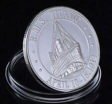 TITANIC Silver Coin Film Movie Medal Ocean Cruise Liner Ship Boat London NYC D10