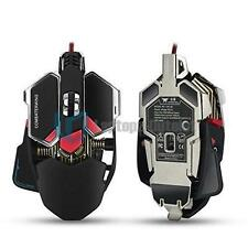 Combaterwing 4800 DPI Programmable 10 Buttons RGB Breathing LED Gaming Mouse New