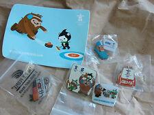 LOT 5 Vancouver 2010 Miga Quatchi Sumi Mukmuk olympic Visa pins / sticker