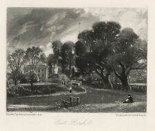 "John Constable / David Lucas ""East Bergholt"" mezzotint engraving"