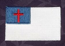CHRISTIAN FLAG PATCH SMALL JESUS CHRIST THE POPE THE VATICAN DIY