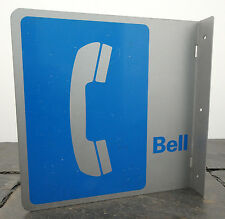 "Vintage Bell Public Telephone Aluminum/Metal Flange Advertising Sign 15"" x 15"""