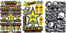 3SHEET ROCKSTAR METALMULISHA CAR MOTOCROSS ENDURO BIKE RACING DECAL STICKER SM17