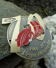 Rare german Vespa Scooter 70 years celebration badge -