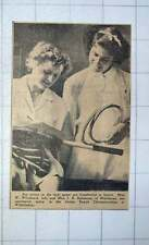 1949 Miss W Woodcock And Miss Ik Solomons Middlesex Jr Tennis Championships