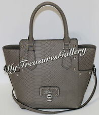 NEW Guess Doreen Satchel Crossbody Purse Handbag Taupe NWT
