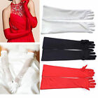 Ladies Bridal Long Finger Gloves Satin Fancy Party Evening Wedding Prom Dress