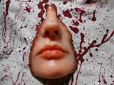 HORROR PROPS Skinned Silicone Face FREAK SHOW Body Parts Halloween ZOMBIE movie