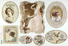 Ricepaper/Decoupage paper,Scrapbooking Sheets/Craft Paper Vintage Wedding Photo
