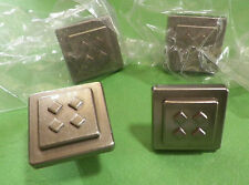 *NEW* Satin Nickel Cabinet Cupboard Dresser Hardware Square Knob K4454BSN