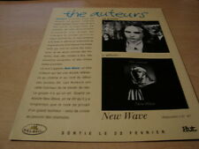 THE AUTEURS - NEW WAVE!!!!!!!!!!!!!!FRENCH PRESS ADVERT