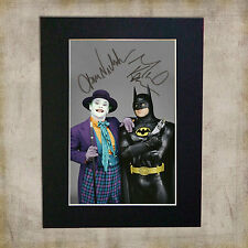 BATMAN & JOKER Jack Nickolson Signed Mounted Autograph Photo Re-Print (A5)