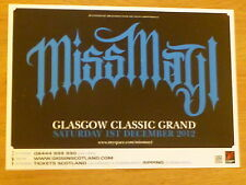 Miss May I - Glasgow dec.2012 tour concert gig poster