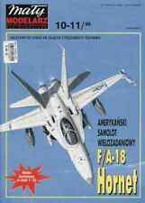 Maly Modelarz 10-11/99 twin engine Multi-role combat aircraft F/A-18 HORNET 1:33