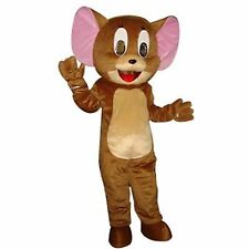 Jerry from Tom and Jerry 1pc Cartoon Mouse Mascot Costume Adult Suit Express