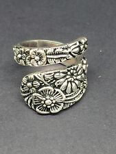 Womens 925 Sterling Silver Classic Vintage Design Cute Flower Ring Size 7
