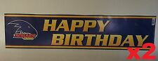 Official AFL Adelaide Crows Happy Birthday Banners Posters x 2