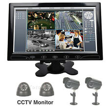 "10"" Color Touch Button Screen Speaker CCTV Monitor PC Security VGA HDMI DE Stock"