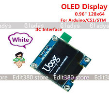 "White 0.96"" I2C IIC 128 64 OLED LCD Display Screen Punkte Anzeige für Arduino"