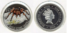 2012 Niue  Proof Color Silver $1-Mexican Tarantula-rare-mintage 1000