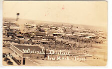 RPPC -  Lubbock, Texas - Wholesale District - Panoramic View - early 1900s