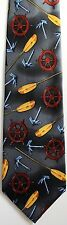 NEW! Nautical Themed Paddles Anchors Oars Ship Helms Ocean Novelty Necktie  4468