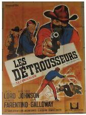 LES DETROUSSEURS affiche film format 120x160 cm NOEL 1967