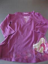 Barbie Shirt T-Shirt Longshirt 2in1 Gr. 122/128 Langarm, Lila/Rosa, Motiv