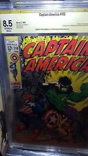 Captain America #110 CBCS 8.5 Jim Steranko Signed 1st Madame Hydra Marvel 1969