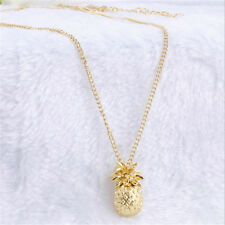 Women Gold Plated Jewelry Tiny Pineapple Cute Fruit Charm Long Chain Necklace