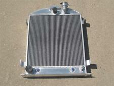 3 Inch Chopped 1932 Ford Lightweight 3 Row Core Aluminum Radiator w Ford Outlets