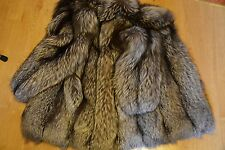 Genuine BELLISSIMO reale Silver Fox Fur Coat/Jacket