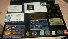 junk drawer COIN LOT GOLDEN Dollar Proof Set Ike Dollars Military money OLD COIN